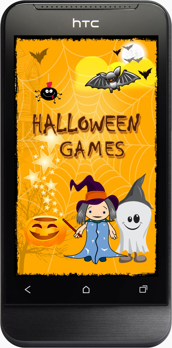 Halloween themed coloring and puzzle game app