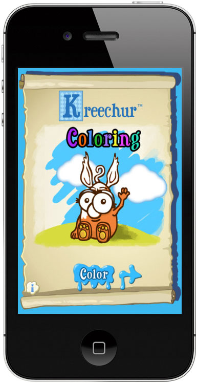 iPhone colouring app for kids