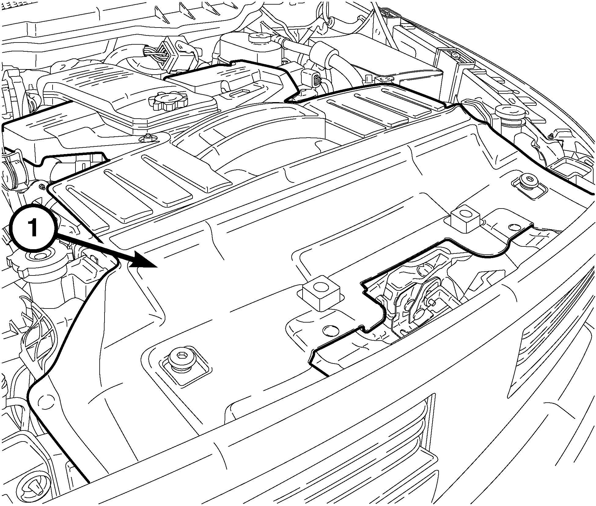 Car engine top view Illustration