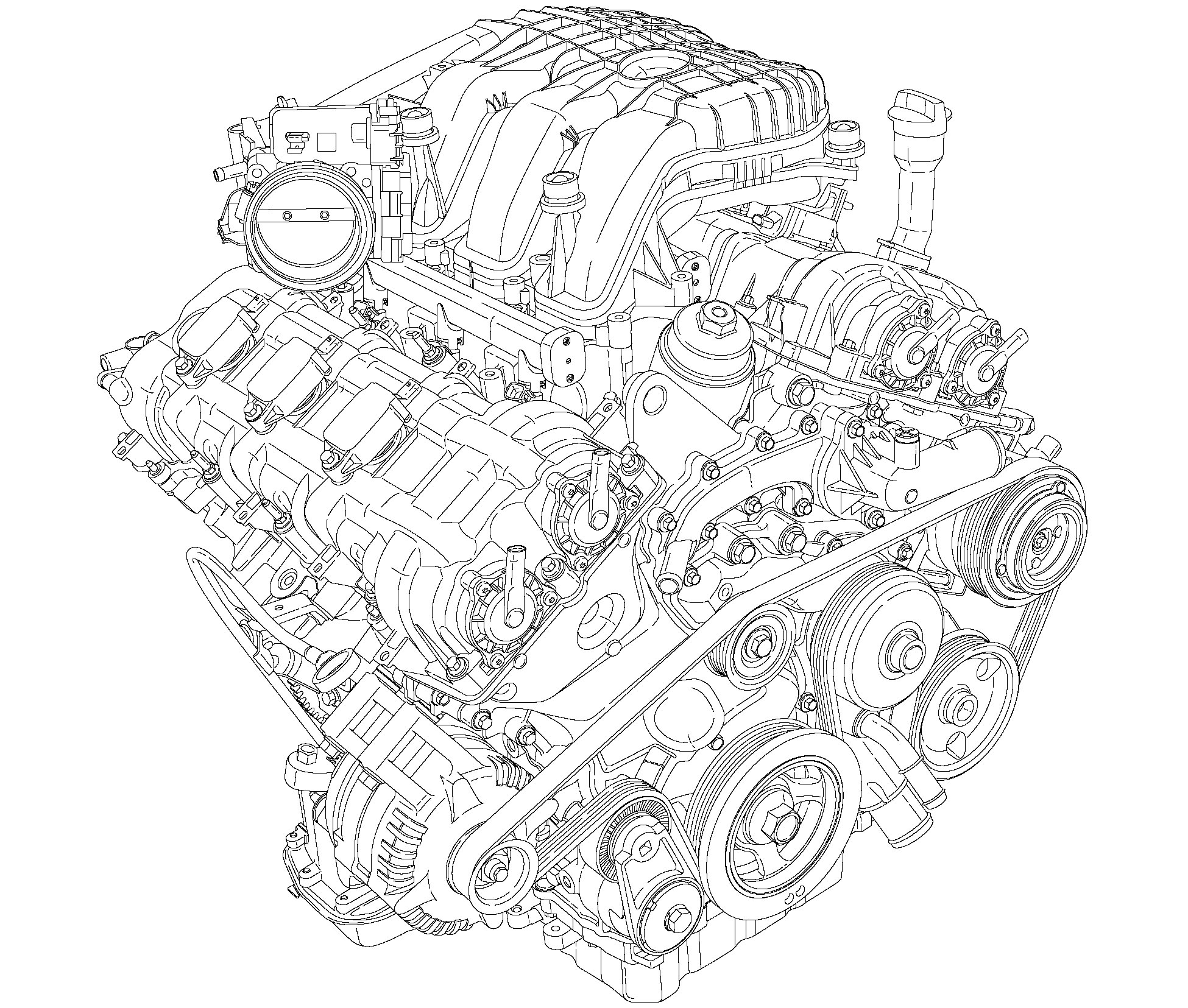 Pentastar engine Illustration