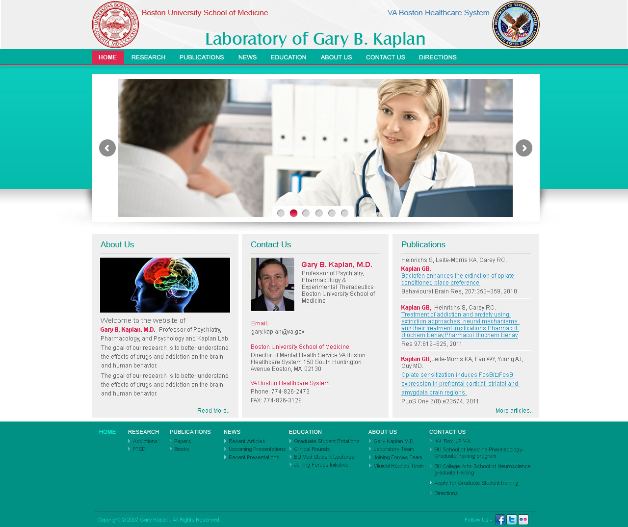 Website for Gary B.Kaplan