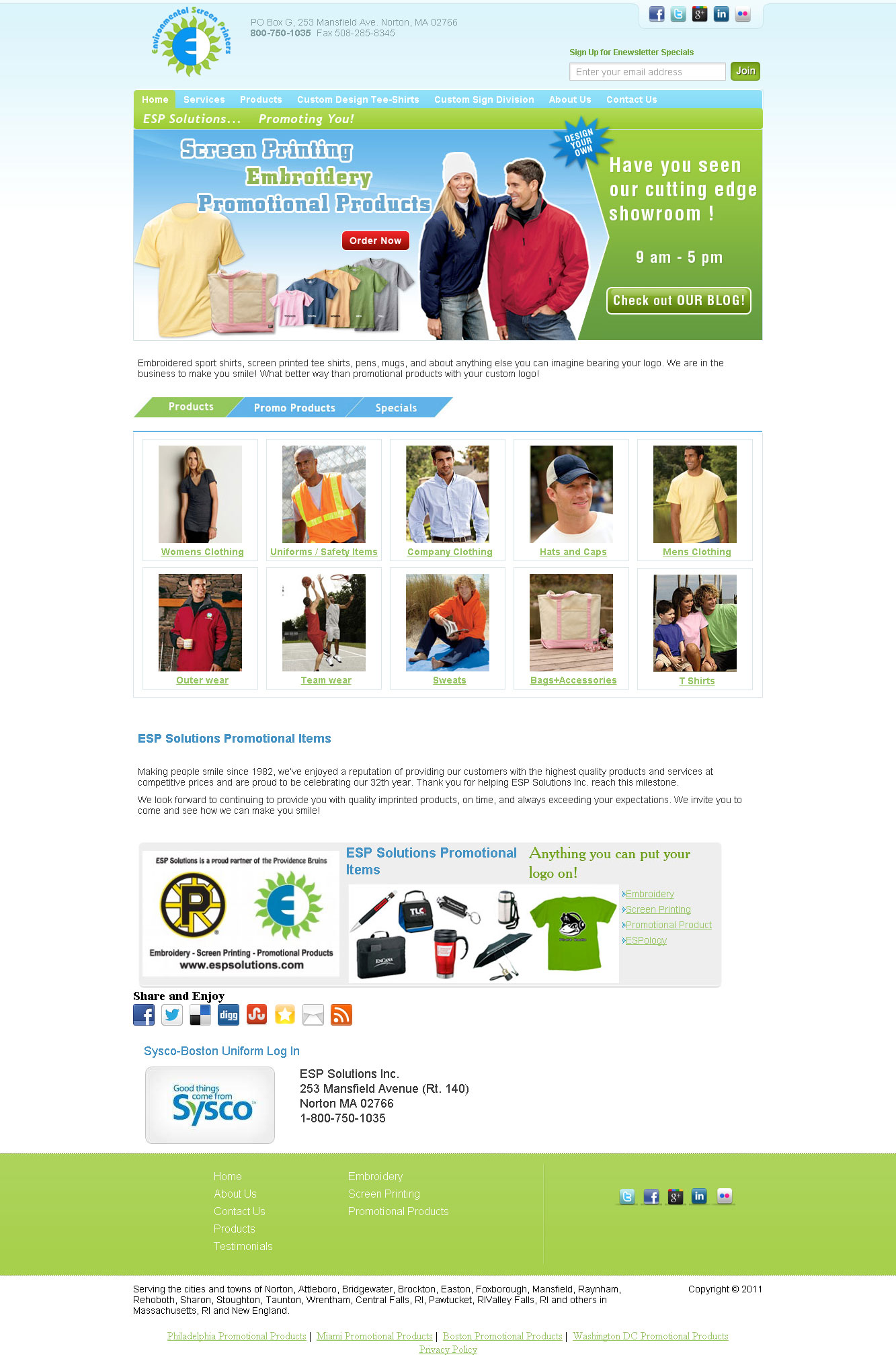 Website for ordering promotional products